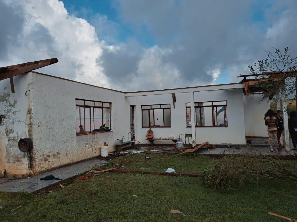 Tornado atingiu Campos Novos, no Meio-Oeste catarinense - Defesa Civil/Divulgação/ND