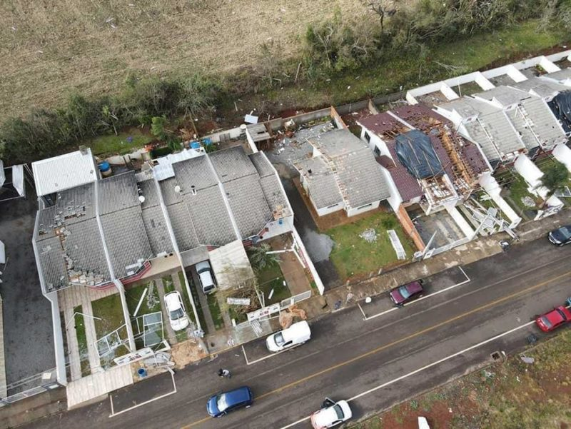 Cerca de 1.700 pessoas foram atingidas no tornado em Campos Novos – Foto: Murilo Milanez/Defesa Civil/Divulgação/ND