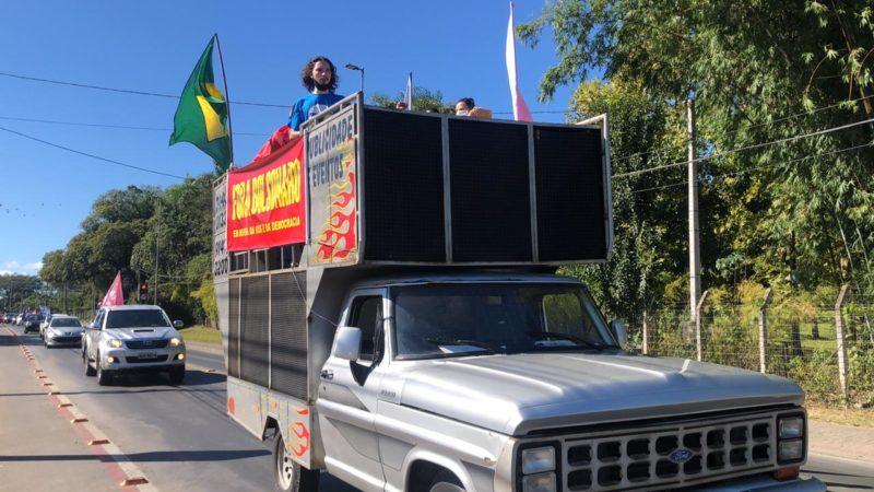 Manifestação contra Bolsonaro em Criciúma – Foto: Renam Meinem/NDTV