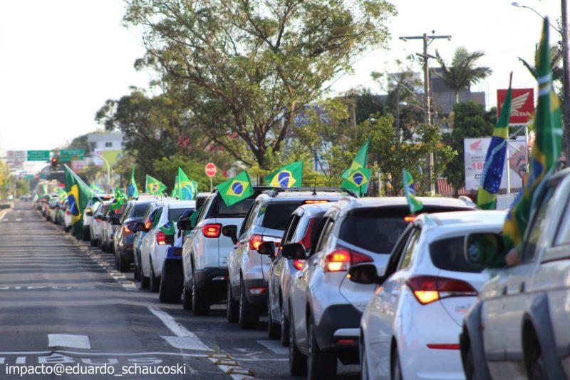Manifestação pró-Bolsonaro em Criciúma – Foto: Divulgação/ Eduardo Shaucoski