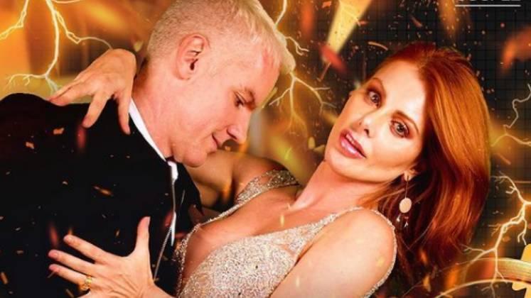 """A atriz Deborah Albuquerque e o médico e marido Bruno Salomão contam que os dois são o famoso casal """"os opostos se atraem"""" – Foto: Reprodução/R7/Divulgação/ND"""