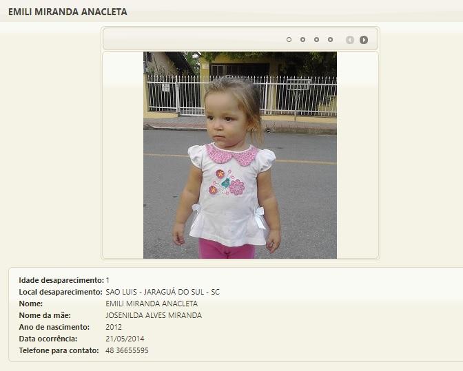 Lista de desaparecidos de Santa Catarina