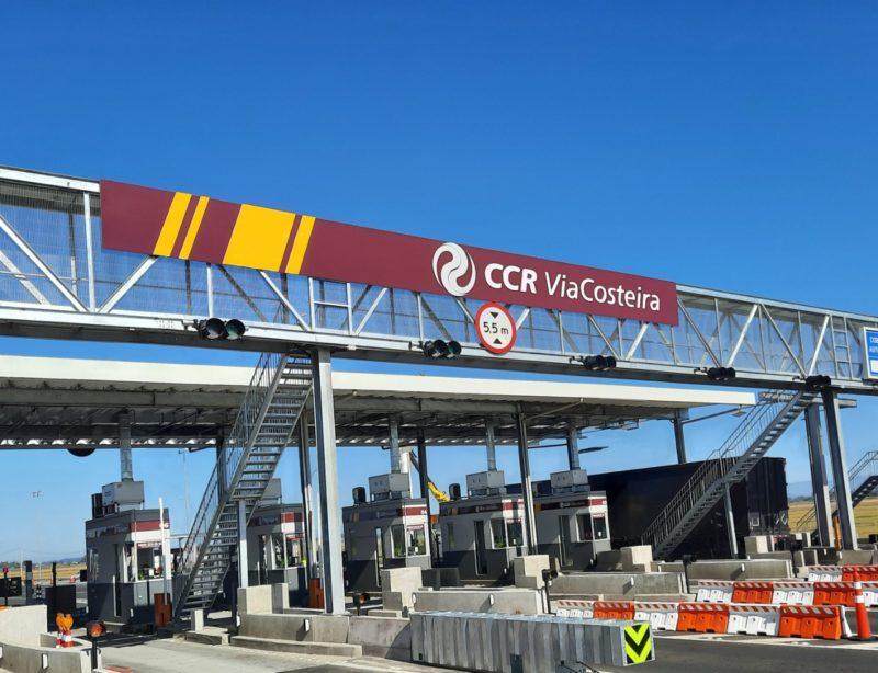 CCR Via Costeira: concessionária responsável pelas quatro praças do trecho Sul da BR-101 – Foto: CCR Comunicação/divulgação/ND