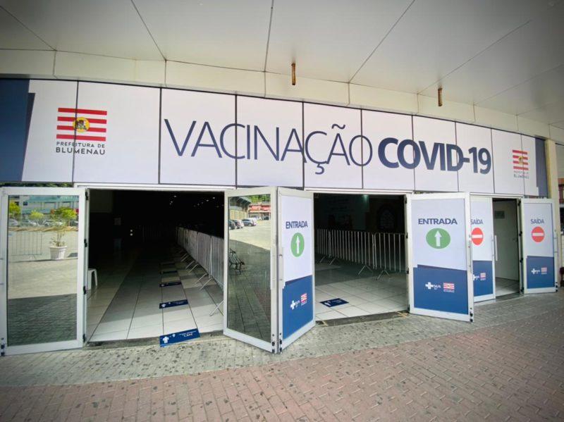 Central de Vacinação Covid-19 em Blumenau – Foto: Moisés Stuker/NDTV