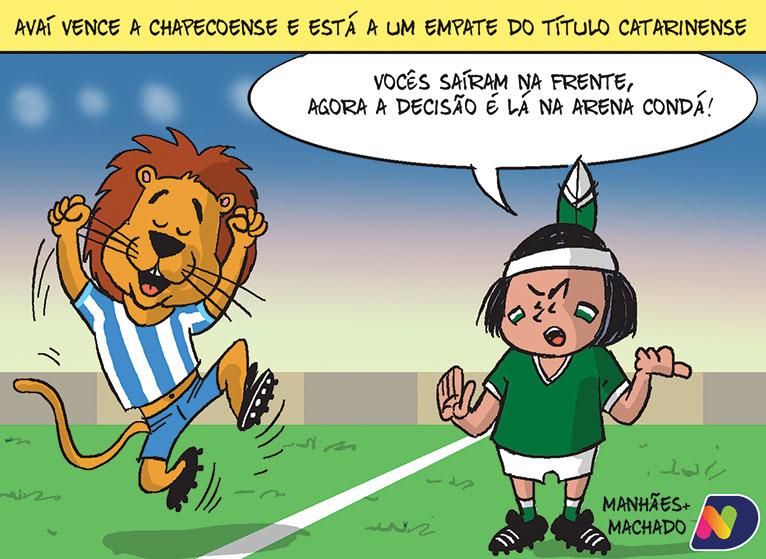 Avaí vence a Chapecoense e está a um empate do título catarinense