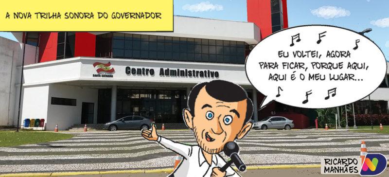A charge de Ricardo Manhães, para esta segunda-feira no Jornal ND