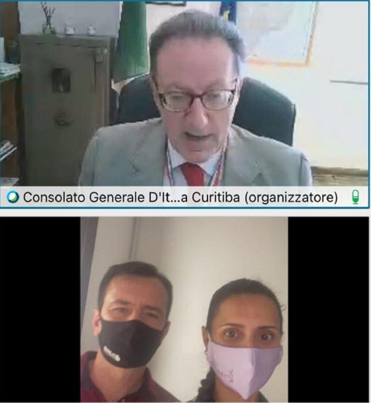 L'Ambasciata d'Italia in Brasile, Salvador du Venice e una coppia che ha promesso di riconoscere la cittadinanza & # 8211;  Foto: Revelation / ND