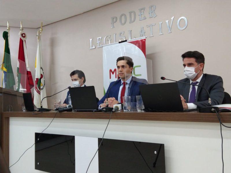 Coletiva de imprensa do Ministério Público sobre o ataque a creche de Saudades