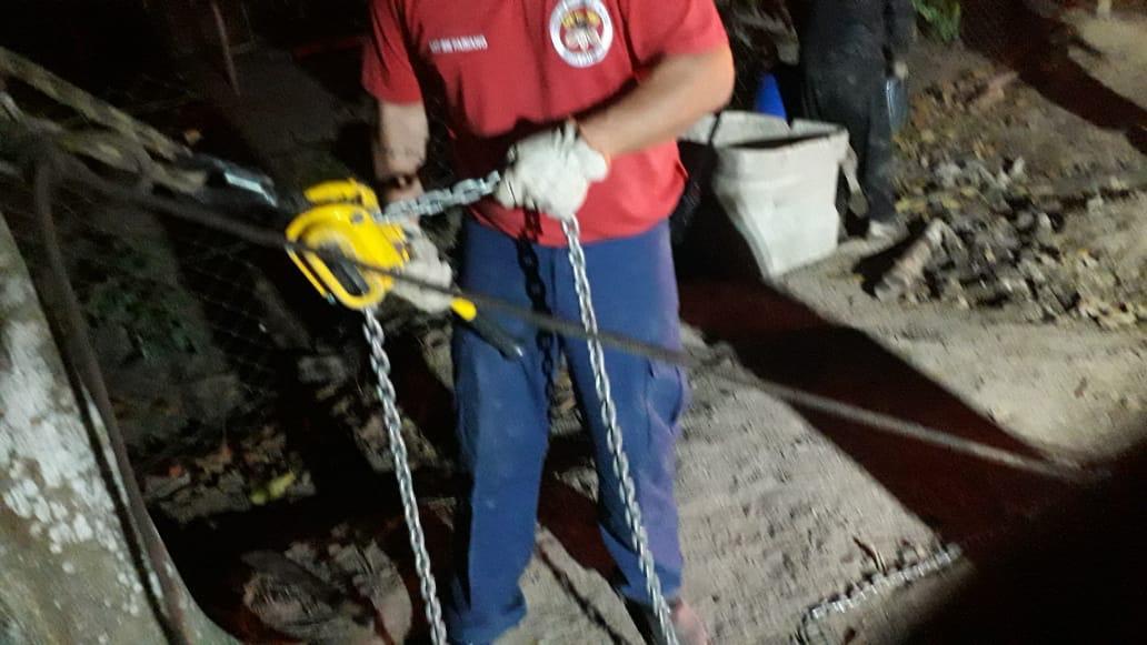 O fato ocorreu na rua Lírio, no bairro Figueira - Divulgação/CBM Gaspar/ND