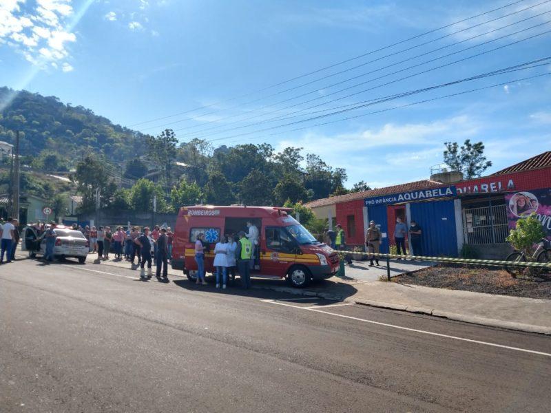 Crime ocorreu na creche Pró Infância Aquarela, em Saudades – Foto: Imprensa do Povo/Divulgação ND