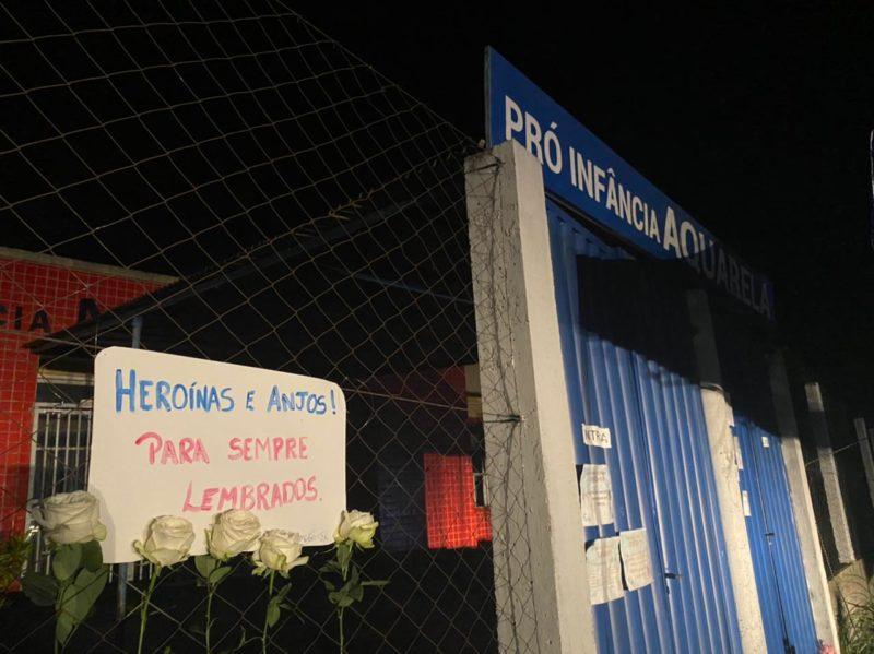 Ataque à Creche em Saudades, no Oeste de SC – Foto: Willian Ricardo/ND