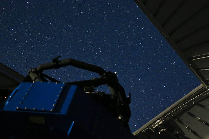 céu visto pelo telescópio