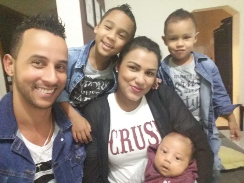 Mario e Ketlyn precisaram de muita fé para que a família que eles têm hoje fosse possível – Foto: Arquivo pessoal/ND