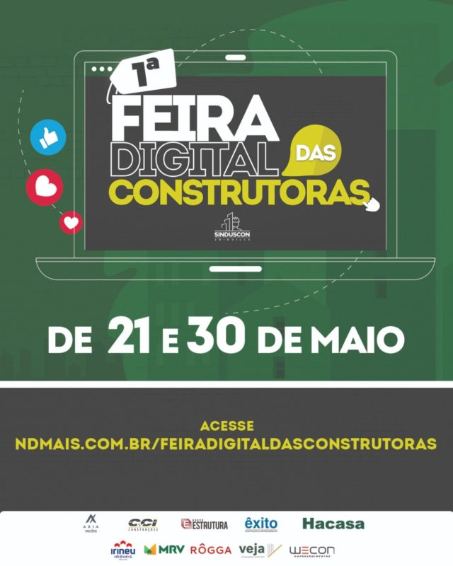 1ª Feira Digital das Construturas – Foto: Sinduscon Joinville