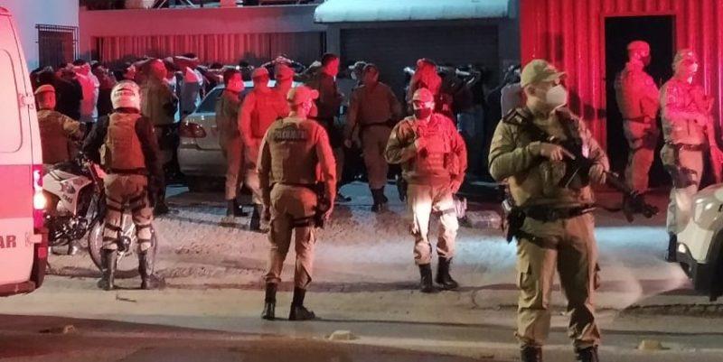 Festa foi interrompida pela PM em Joinville – Foto: Redes sociais