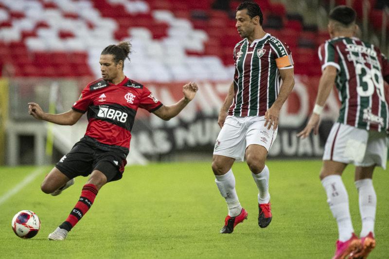 Flamengo e Fluminense empataram por 1 a 1 no jogo de ida – Foto: Alexandre Vidal/Flamengo