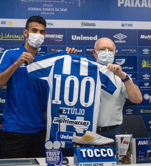 Com passagens pelas categorias de base do Cruzeiro e no time profissional do Paços de Ferreira, Getúlio soma 25 gols com a camisa do Leão da Ilha- Foto: André Palma Ribeiro/Avaí/ND