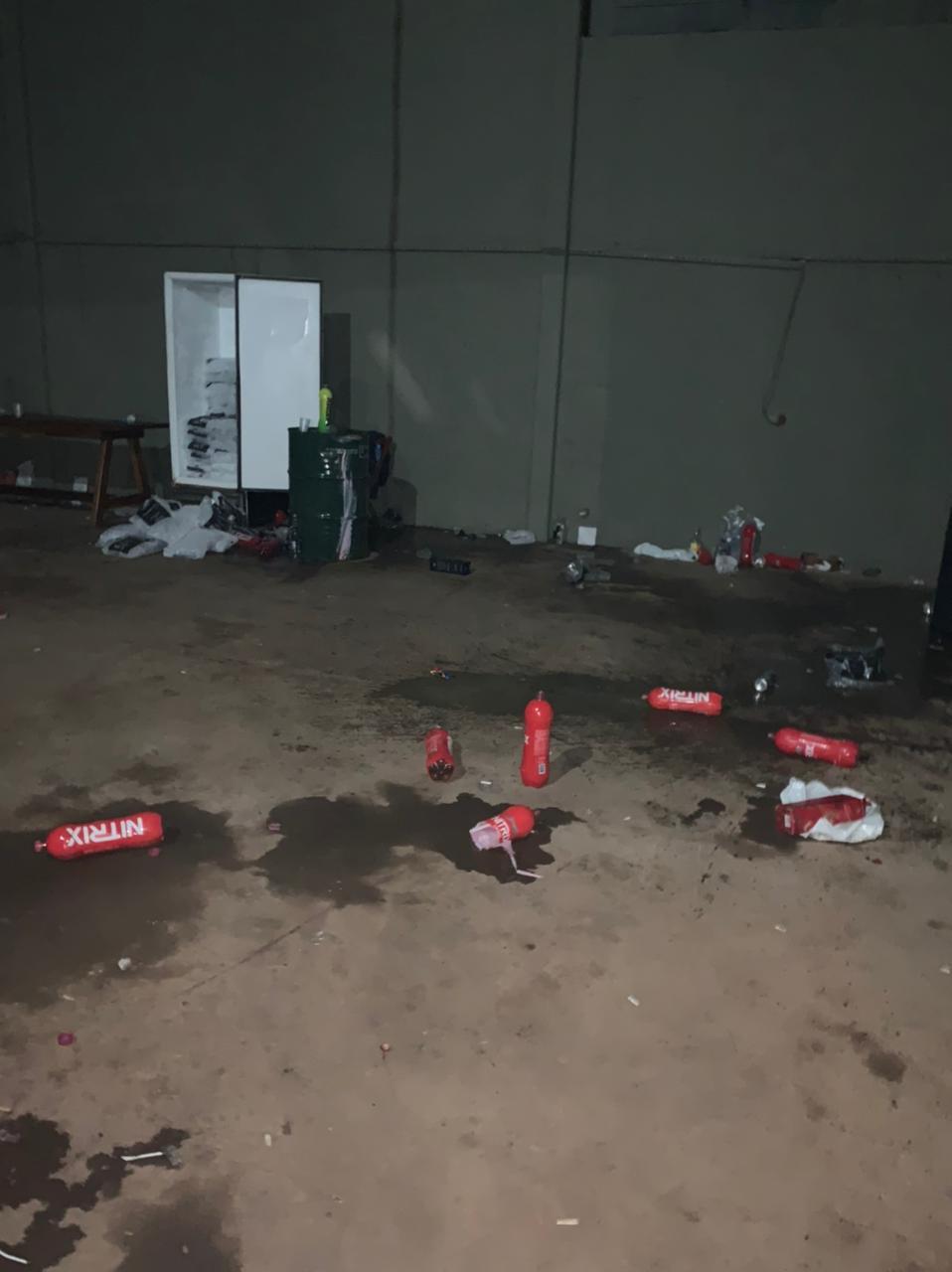 Participantes da festa fugiram quando a Guarda Municipal chegou. - Guarda Municipal/Divulgação/ND