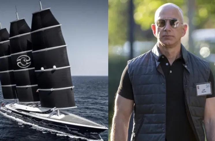 Jeff Bezos deve receber seu super iate em julho – Foto: Reprodução