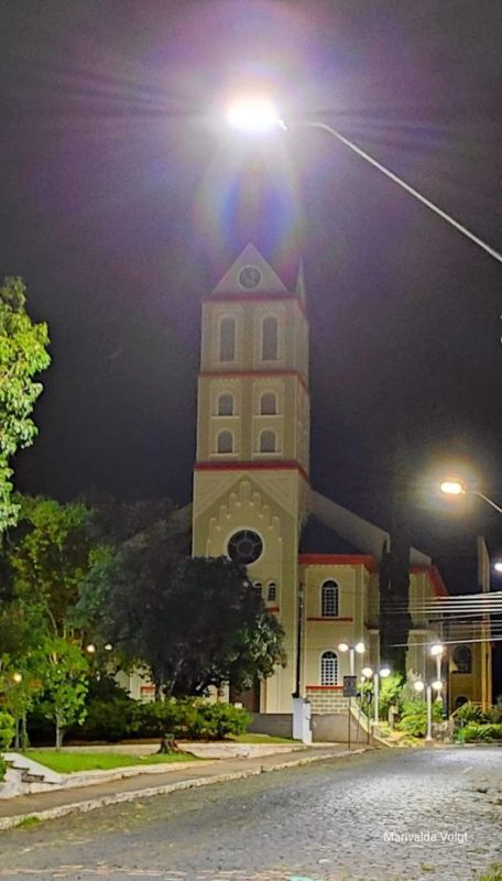 Imagem de Nossa Senhora surpreendeu os fiéis de Canoinhas – Foto: Marivalda Voigt/Divulgação