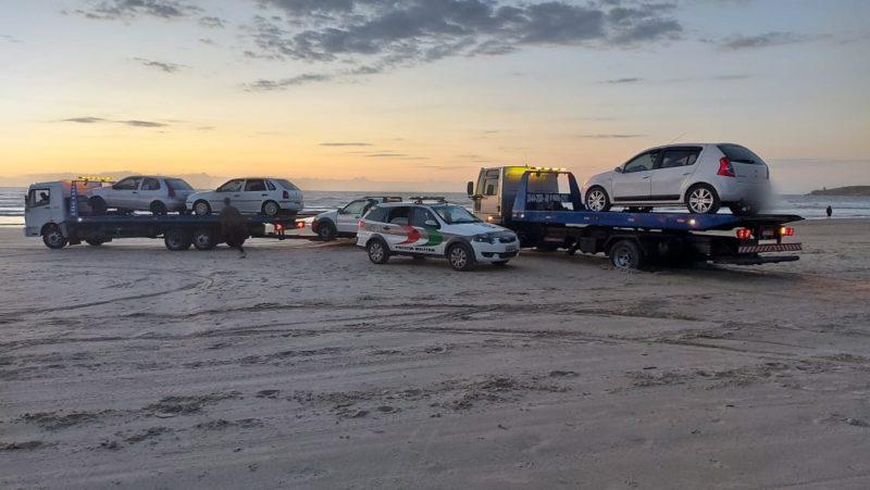 Operação se concentrou nas praias do Gi e Sol em Laguna, Litoral catarinense – Foto: Polícia Militar de Laguna/Divulgação MD