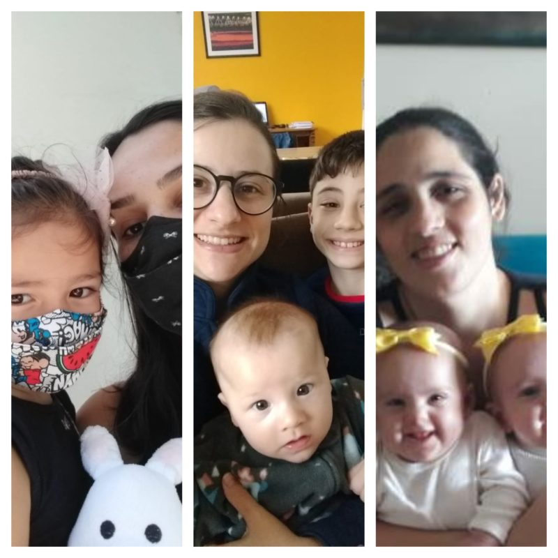 Mães comentam sobre as dificuldades de criarem filhos pequenos na pandemia – Foto: Arquivo pessoal/ND