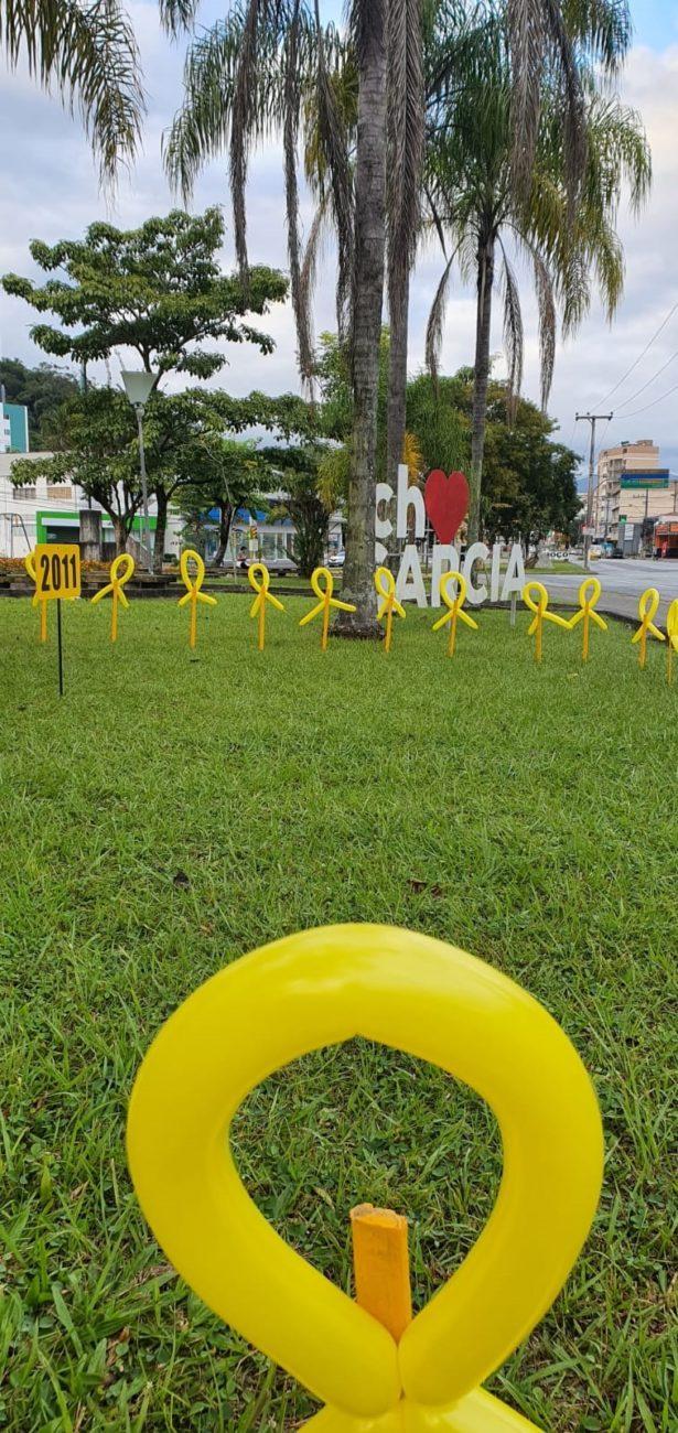 São 10 pontos da cidade com os balões, numa tentativa de conscientizar os motoristas - Michele Lamim/Secom