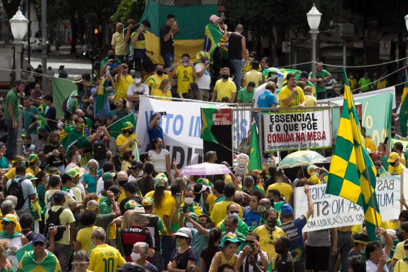 A pandemia também foi assunto nas manifestações a favor do governo – Foto: Telmo Ferreira/Estadão Conteúdo/ND