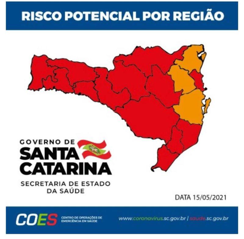 Região Nordeste foi para nível grave em relação à Covid-19 – Foto: Divulgação