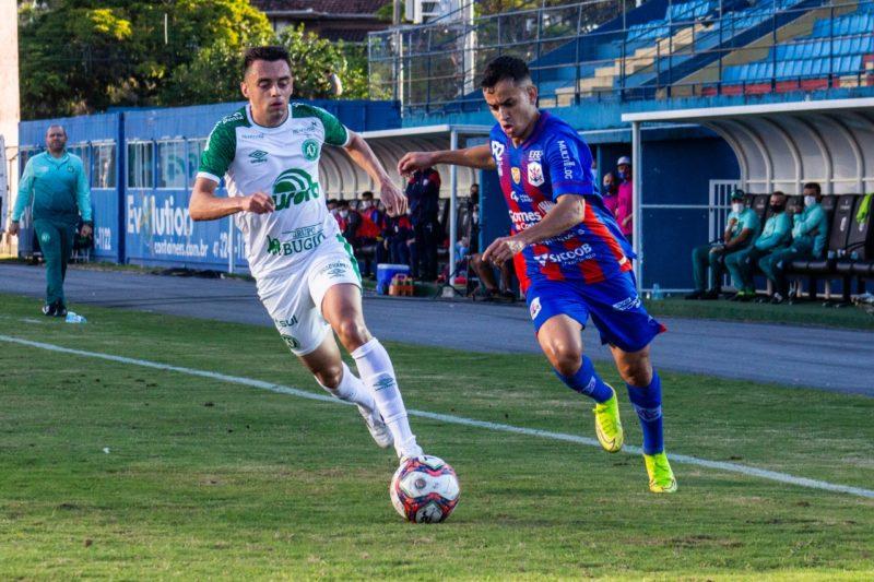 Marcílio Dias, Chapecoense, Campeonato Catarinense, jogo de ida, – Foto: Bruno Golembiewski/CNMD/ND