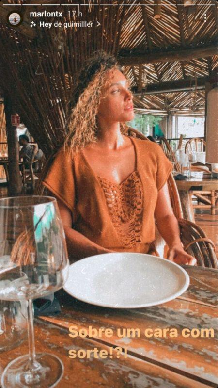 Marlon Teixeira se declarou pela primeira vez publicamente para Débora Nascimento – Foto: Reprodução Instagram/ND