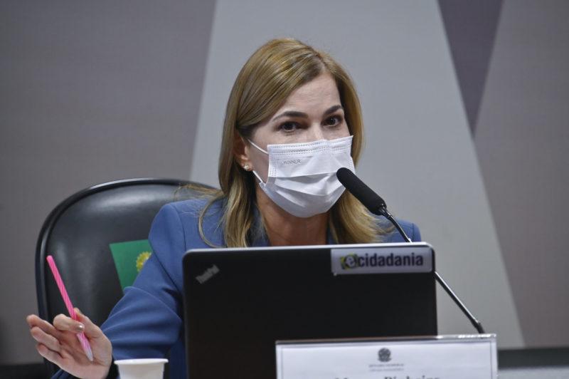 Mayra Pinheiro, em depoimento à CPI da Covid, no Senado Federal – Foto: Leopoldo Silva/Agência Senado/ND