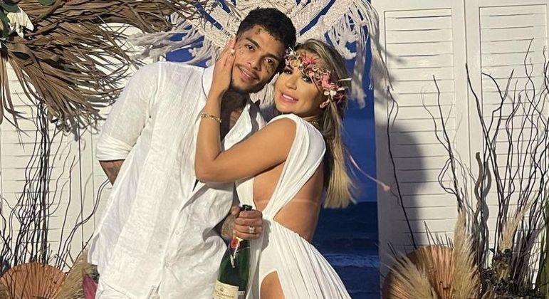 MC Kevin e Deolane Bezerra realizaram celebração em abril deste ano – Foto: Instagram/Reprodução/ND