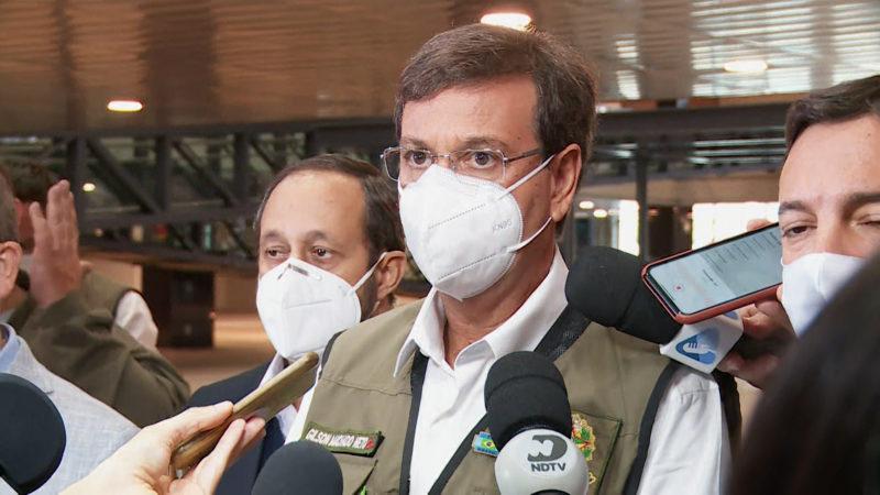 Ministro chegou à Balneário Camboriú no final da manhã desta sexta (14) – Foto: Matheus Nunes/ND