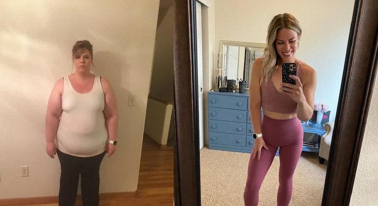 antes e depois da mulher que emagreceu