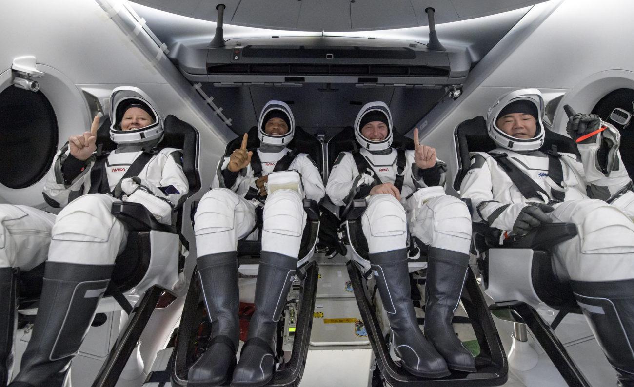 Quatro astronautas retornam à Terra após missão espacial de 160 dias - Divulgação/NASA/Bill Ingalls/ND