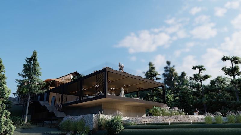 Projeto manterá estilo arquitetônico enxaimel do restaurante – Foto: Divulgação/Indaiá Eventos/ND
