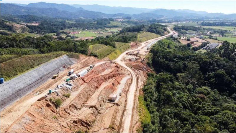 Contorno Viário de Florianópolis. Obras avançam, mas atrasos ameaçam entrega do projeto. – Foto: Arteris Litoral Sul/divulgação