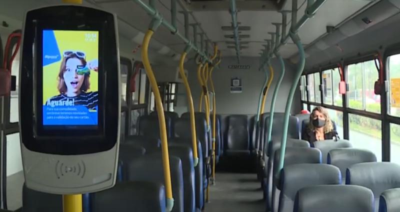 Novo cartão deve unificar transporte coletivo na região da Grande Florianópolis – Foto: Reprodução/NDTV RecordTV