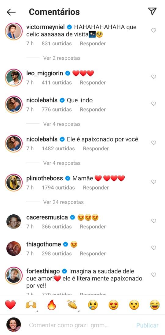 Amigos de Anitta se derreteram de amor com postagem da cantora - Reprodução/ND