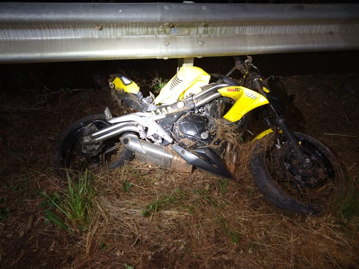 Duas motocicletas se envolveram no acidente. - PMRv/Divulgação/ND