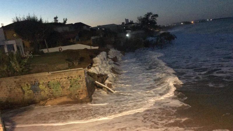Mar pode provocar novas ressacas nas praias do Sul da Ilha – Foto: Defesa Civil de Florianópolis/Divulgação/ND