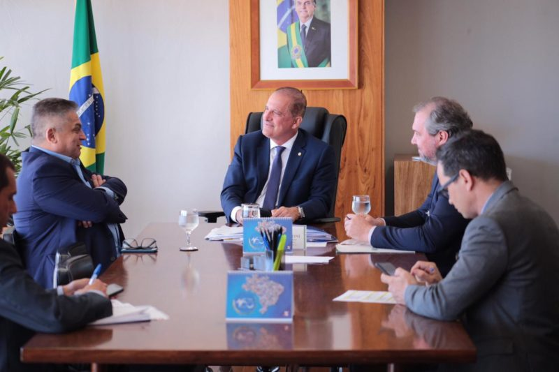 João Rodrigues esteve reunido com Onyx Lorenzoni, em Brasília. – Foto: Prefeitura de Chapecó/Divulgação/ND