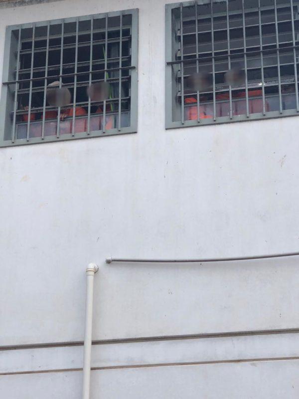 Detentos na penitenciária de Criciúma – Foto: PMSC/Divulgação
