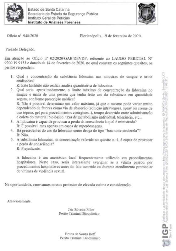 Perito responde questionamentos da polícia – Foto: Reprodução/ND
