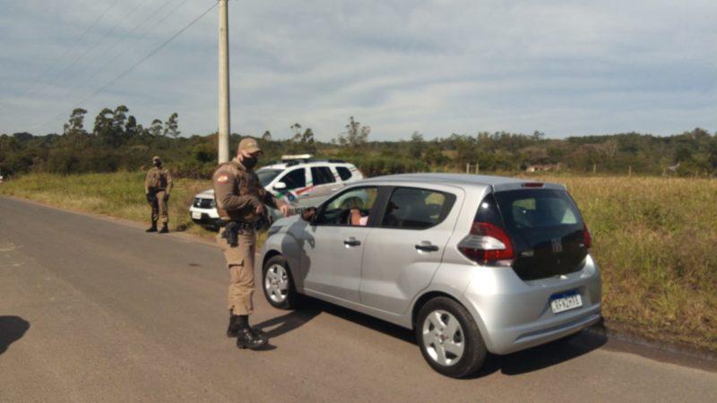 Polícia Militar bloqueou a estrada do acesso à penitenciária – Foto: Juno César/NDTV