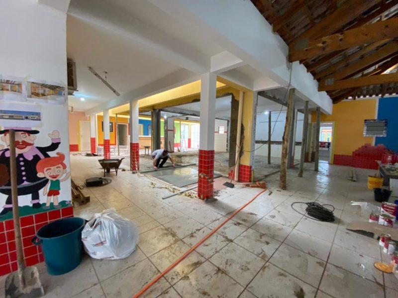 Local onde aconteceu a chacina será um espaço de lazer – Foto: Willian Ricardo/ND