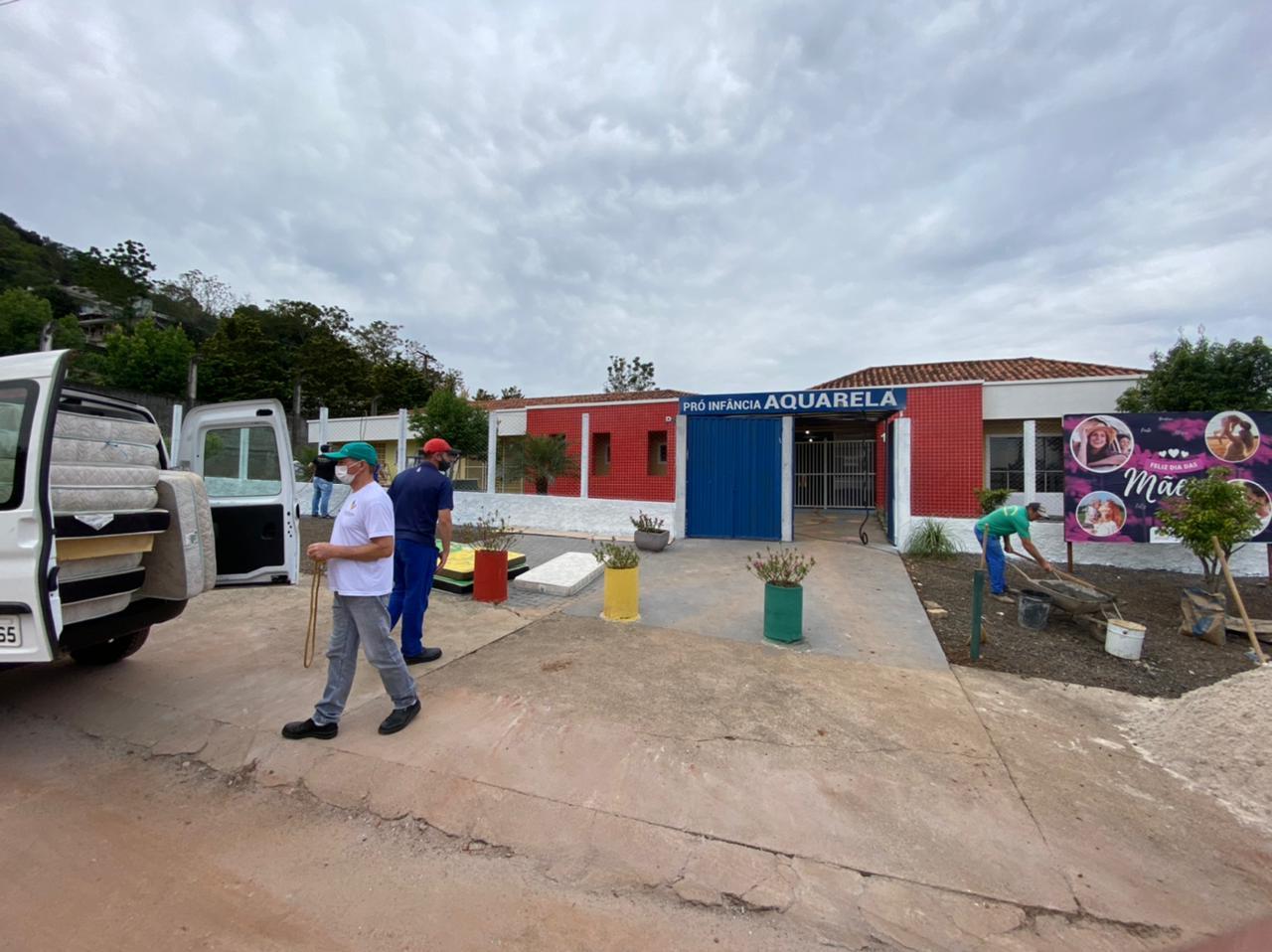 Secretaria de Educação de Saudades destacou que até mesmo a fachada da creche será transformada - Willian Ricardo/ND