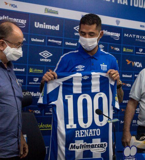 Mais experiente entre os três homenageados, Renato soma 21 gols pela equipe Azurra – Foto: André Palma Ribeiro/Avaí/ND