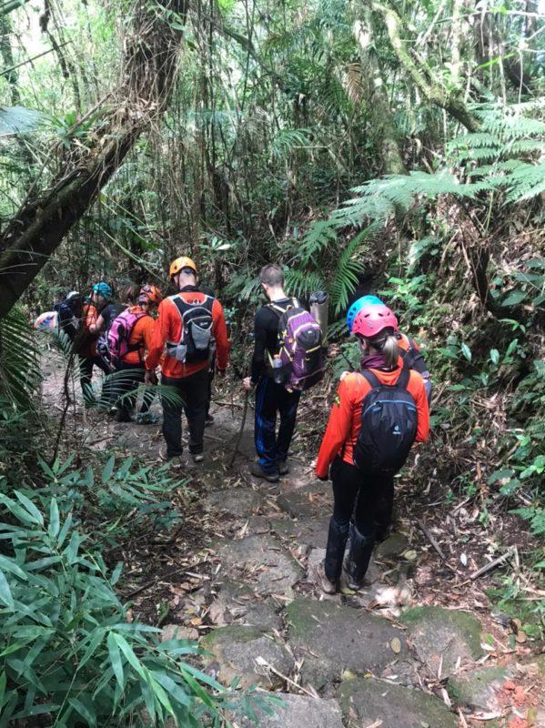 Grupo do Paraná se perdeu ao subir o Monte Crista, em Garuva – Foto: GRM/Divulgação